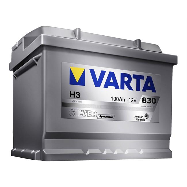Bateria Varta H3 Silver Dynamic 100 Ah - 830 A