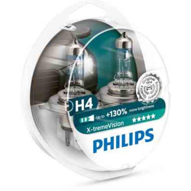 Philips 2x Lâmpadas X-treme Vision H4 +130% - 12342XV+S2