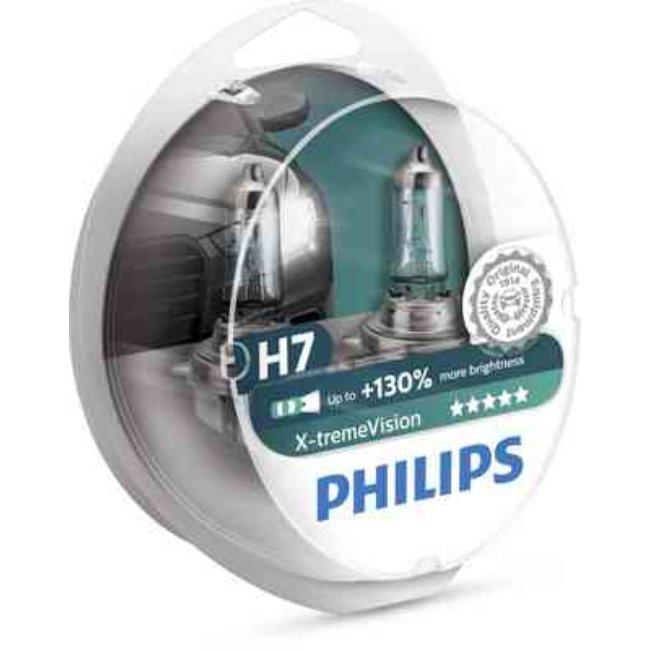 Philips 2x Lâmpadas X-treme Vision H7 +130% - 12972XV+S2